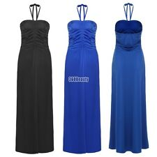 Meaneor Sexy Women Halter/ Strapless Empire Waist Solid Long Maxi Evening B5UT