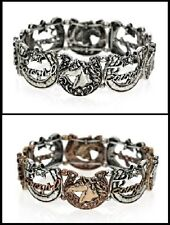 Beautiful Western Cowgirl Horseshoe + Horse + Lone Star Stretch Bracelet-Choose