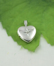 Sassi SL1002 Ladies Small 925 Sterling Silver Diamond Set Heart Shape Locket