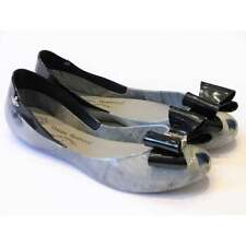 Vivienne Westwood Queen Marble Bow In Smoke | Melissa Anglomania Shoes