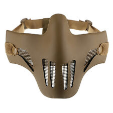 Tactical Hunting Cying Half Face Mask Protective Mesh Mask for Airsoft Paintball