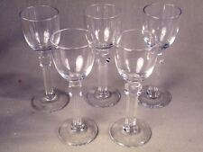 "Bryce Colonnade Set of Five 4 3/8"" Cordial Stems Excellent Condition"