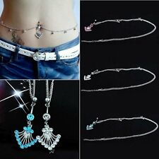 Fashion Crystal Navel Belly Ring Button Belly Bar Chain Body Piercing Jewellery