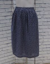NEW FAT FACE BLUE FLORAL PRINT MIDI SKIRT 8 to 16