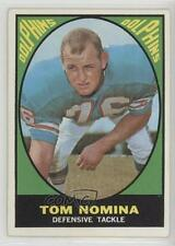 1967 Topps #86 Tom Nomina Miami Dolphins Football Card