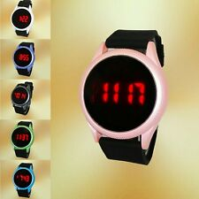 New Fashion Waterproof Men Women LED Touch Screen Day Date Silicone Wrist Watch