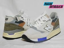 "New Balance Mens Concepts M 998 TN2 ""C-Note"" Beige/White M998TN2 size 9"