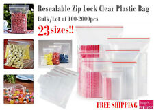 Bulk Lot Clear PE Cello Bag Ziplock Resealable Jewelery Gift Cellophane Bags