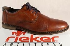 Rieker Men's Lace-up Shoes, Low shoes Sneakers trainers brown leather 13428 NEW