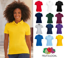Ladies LadyFit Polo Shirt Fruit of the Loom Uniform Sport Top Holiday Work SS212