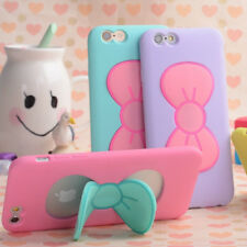 Lovely Bow-knot Soft Silicon Case Candy Color Holder Cover For iPhone 7 6S Plus