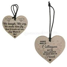 Shabby Chic Heart Signs Home Kitchen Mother Love Friendship Plaques Wine Tags