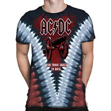 Liquid Blue -  AC/DC CANNON V - Short Sleeve Tie-Dyed T-Shirt