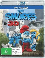 THE SMURFS : 3D Blu-Ray : NEW