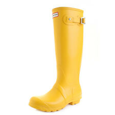 Womens Hunter Original Tall Yellow Wellington Boots Wellies UK Size