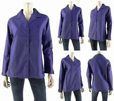 NEW Fashionable Cute Purple Boxy Button-Down Collar Shirt Top Womens Sizes:XS-XL