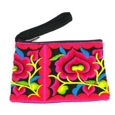 Hmong Embroidered Coin Purses Fair Trade Handcrafted Artisanal Accessories Gift