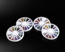 12 Mixed Color Mental Glitter Nail Tool Crystal Flat Back Acrylic Rhinestone H