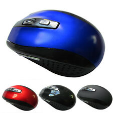 2.4GHz Computer Wireless USB Receiver Laptop Optical Mouse Cordless Mice Black