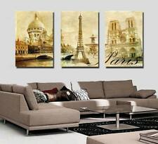 Modern Wall Art Oil Painting Home Decor Eiffel Tower Print on Canvas No Frame