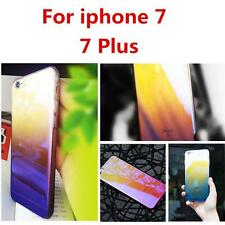 Aurora Gradient Color Clear Hard Bcak Case Cover For Apple iPhone 7 7Plus New ^
