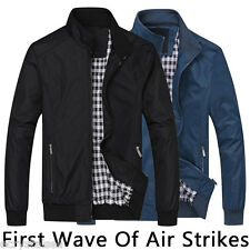 Fashion Casual Mens Jacket Bomber Cool Solid Jackets Coats PLUS SIZE L-6XL