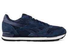 Reebok Men's Classic Leather Clip Tech Sneakers - Navy/White/Black