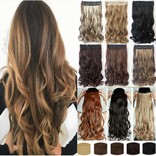 100% Real Thick Clip In Hair Extensions Long Curly Full Head Hair Extentions Ar