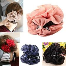 Fashion Flower Chiffon Hair Clip Hair Claw Clamp Wedding Party Accessories Witty