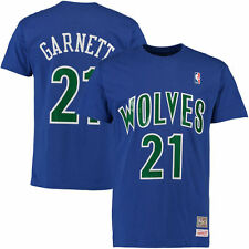 KEVIN GARNETT MINNESOTA TIMBERWOLVES MITCHELL & NESS PLAYER T-SHIRT NBA NEW