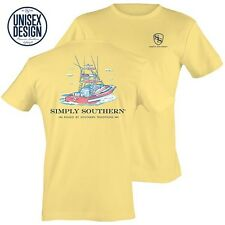 Simply Southern Tee Short T-Shirt Unisex Mens Womans Boat Traditions Yellow