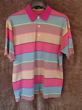 Men Calloway Multi Color Golf Polo Rugby Short Sleeve Shirt size X Large