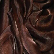 BROWN Crystal Organza Voile Polyester Fabric material sold by the metre 150cm
