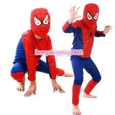 Unisex Kids Boys Girls Fancy Dress Party Costume Superhero Spiderman Outfit 3-7Y
