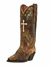 Dan Post Western Boots Womens Fashion Anthem Cross Vintage Tan DP3621