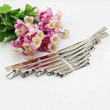 20Pcs Flat Single Prong Alligator Clips Barrette Bows DIY Hair Accessories Witty