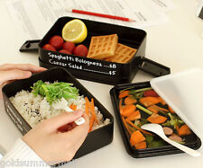 Protable 3layers Rectangle Lunch Box Japanese Style Eco-friendly Bento Container