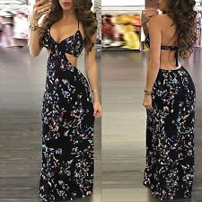 Boho Long Maxi Dress Women Summer Evening Party Cocktail Dress Beach Sundress XL