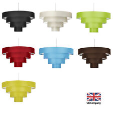 Modern Easy Fit 4 Tier Fabric Ceiling Pendant Light Shade Lampshades Shades NEW