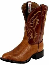 Tony Lama Western Boots Mens Shrunken Shoulder Aztec Cognac CT2023