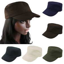Classic Unisex Adjustable Plain Vintage Army Military Cadet Style Cap Hat Witty