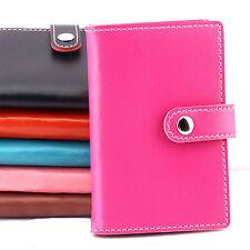 Men Women 20 Slots ID Credit Business Card Holder Faux Leather Case Cover Witty