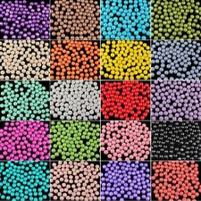 Multi Color Czech Opaque Coated Glass Pearl Spacer Beads 4/6/8/10/12/14mm DIY