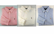 POLO RALPH LAUREN Boys Shirt Size 8 Kids Small Oxford Long Sleeved Top NEW