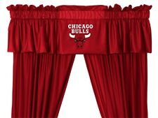 Chicago Bulls Window Treatments Valance and Drapes