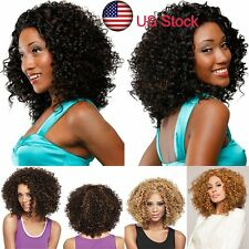 Bob Short Wavy Curly Natural Full Hair Synthetic Afro Loose Women's Wigs Fashion