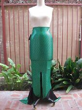 NEW Sexy Women Adult Theme Party Rave Festival COSTUME Mermaid Long Skirt GREEN