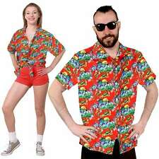 Unisex HAWAIIAN SHIRT BEACH PARTY FANCY DRESS LUAU HOLIDAY TOP HEN Stag festival