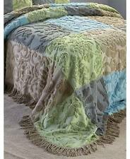 Bedspread Patchwork 3D Pattern Cotton Full - Queen or King Chenille Design