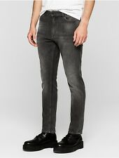 calvin klein mens skinny tapered faded black wash jeans